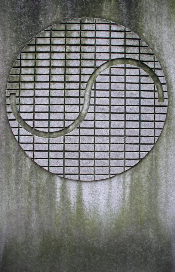 Ying and yang symbol. At Seodaemun Prison History Hall, Seoul, South Korea was forcibly built during the Japanese occupation (1910-45 stock image