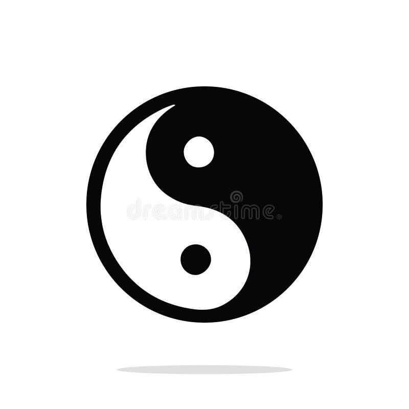 Ying Yang. Symbol of harmony and balance stock illustration