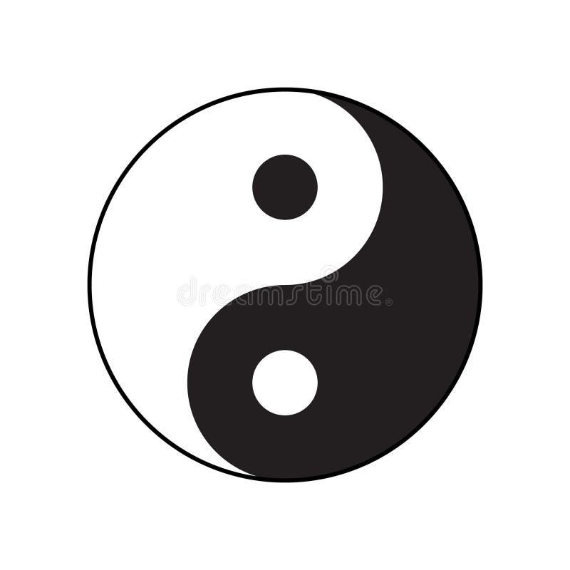Ying-yang symbol of harmony and balance. Flat style stock illustration
