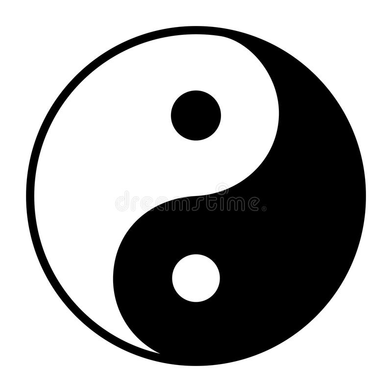 Free Ying Yang Symbol Of Harmony And Balance Royalty Free Stock Image - 118826406
