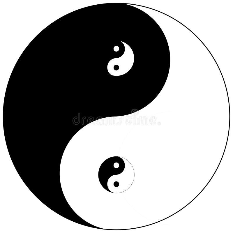 Ying yang symbol into yinyang. Zen meditation and yoga vector illustration