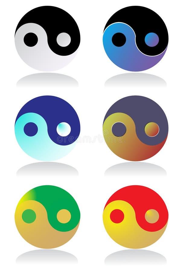 Ying Yang symbols stock illustration