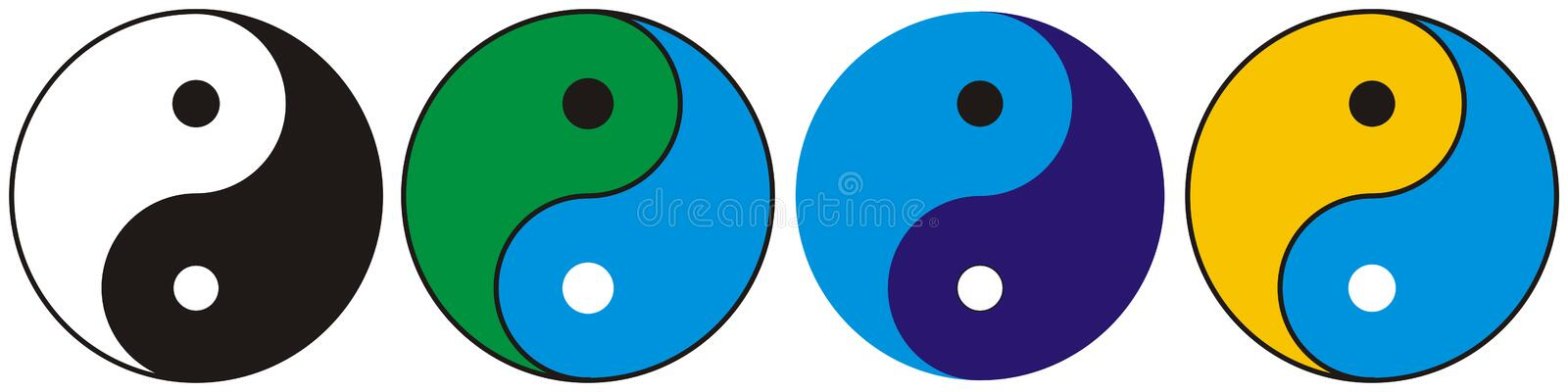 Ying Yang - vecteur illustration stock