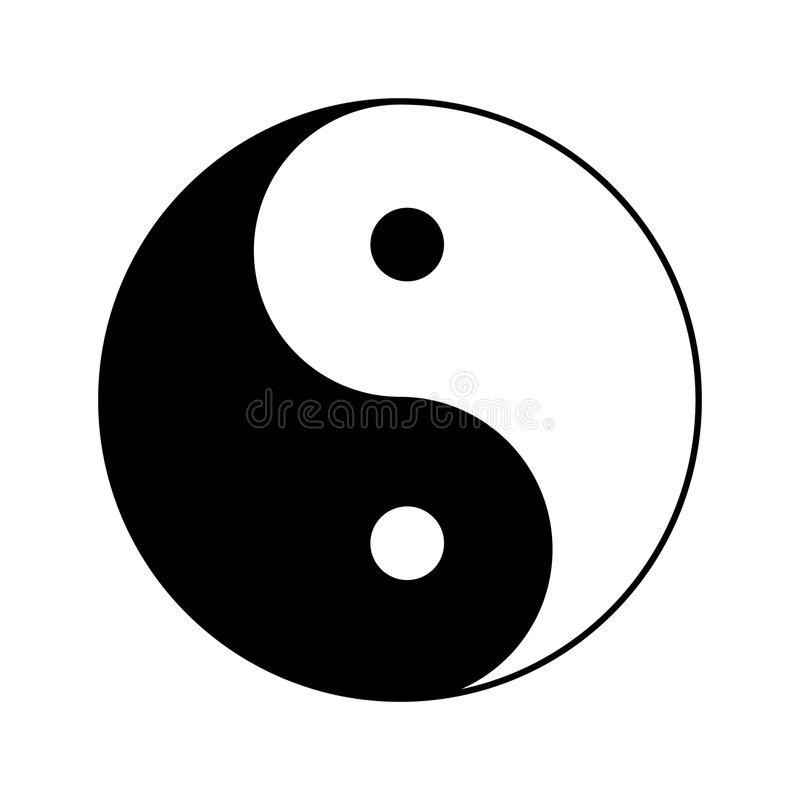 Free Ying Yang Vector Illustration Stock Image - 8473521