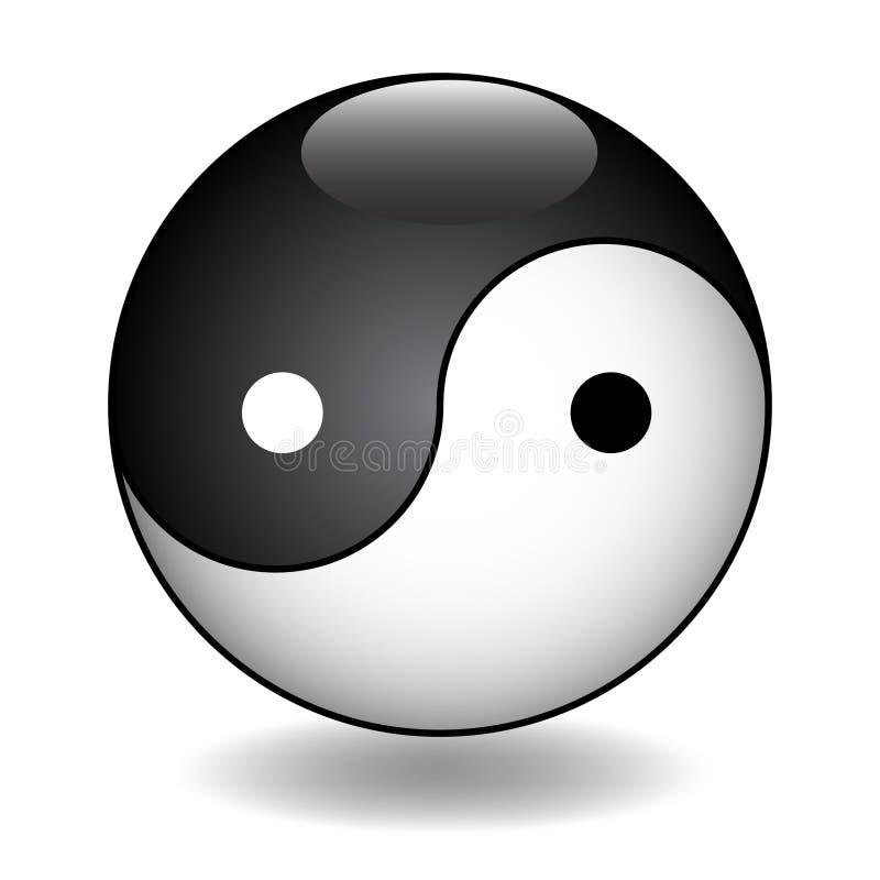 Ying Yang vector illustration. For design vector illustration