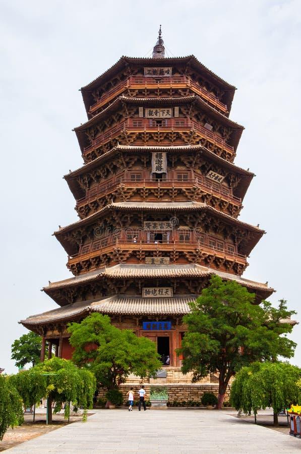 Yingxian Cudowna pagoda. obrazy royalty free