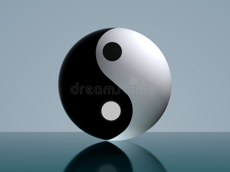 yingyang stock illustrationer