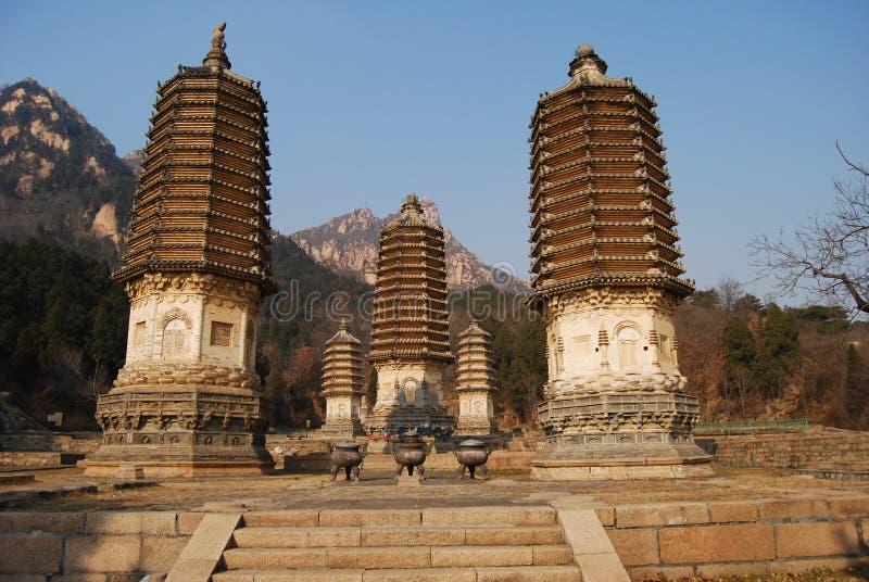 Yinshan pagodas royalty free stock image