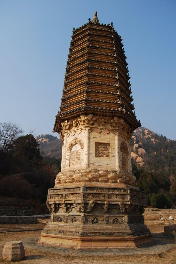 Yinshan pagodas stock images
