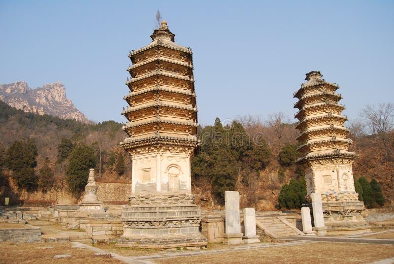 Yinshan pagodas royalty free stock photo