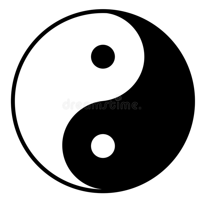 yinyang stock illustrationer