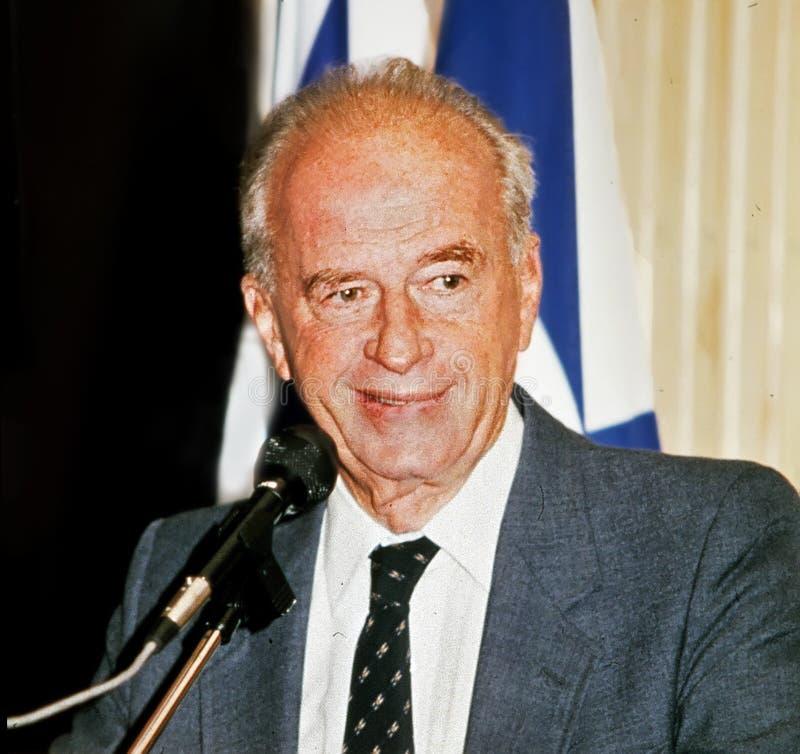 Yitzhak Rabin fotos de archivo