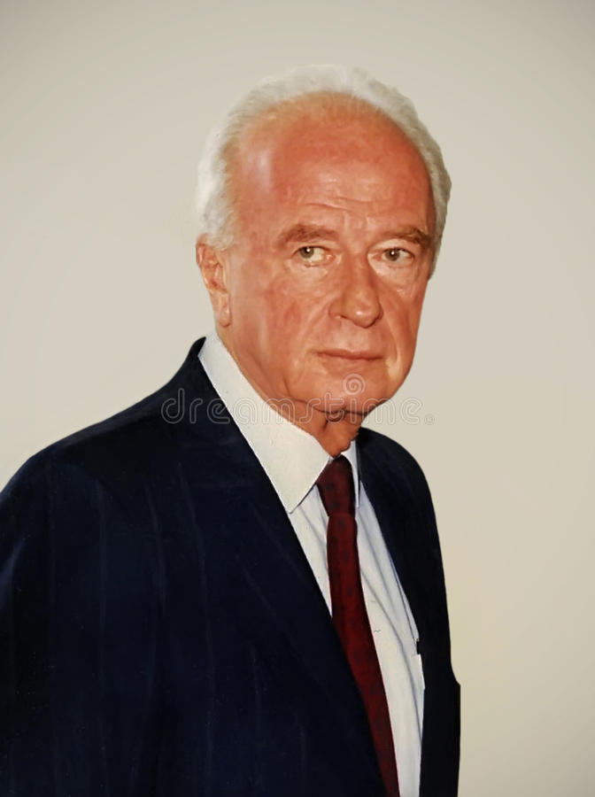 Yitzhak Rabin. Photographed at the King David Hotel in Jerusalem, Israel, on June 17, 1992. He was preparing to meet with Mikhail Gorbachev. Six days later, as stock photo