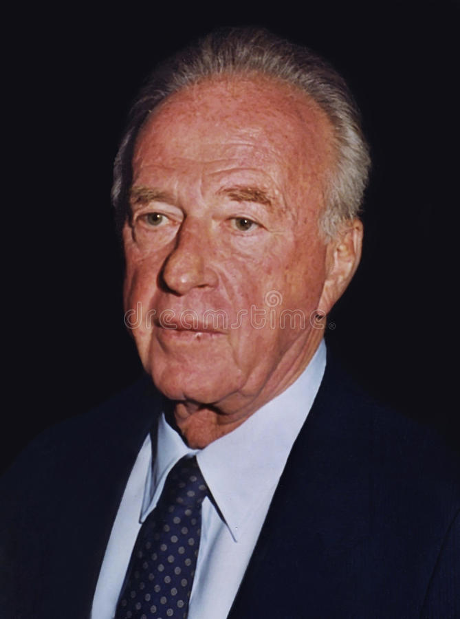 Yitzhak Rabin. Photographed at the King David Hotel in Jerusalem, Israel, on June 17, 1992. He was preparing to meet with Mikhail Gorbachev. Six days later, as stock photography