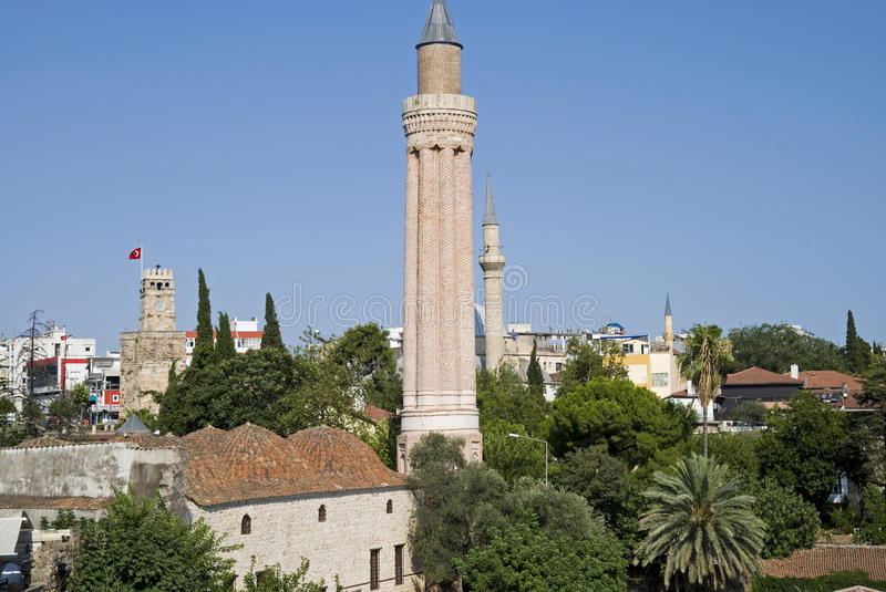 Yivli Minaret Mosque Royalty Free Stock Photography