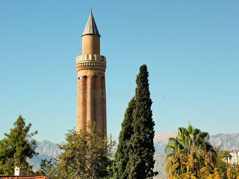 Yivliminaret in Antalya, Turkije stock foto's