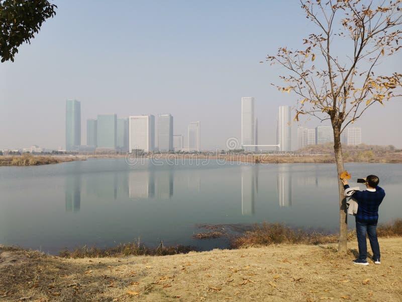 Yiwu city skyscrapers, prowincja Zhejiang, Chiny fotografia royalty free