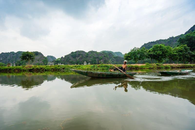 Żyjący w Trang Ninh Binh, Wietnam zdjęcia royalty free