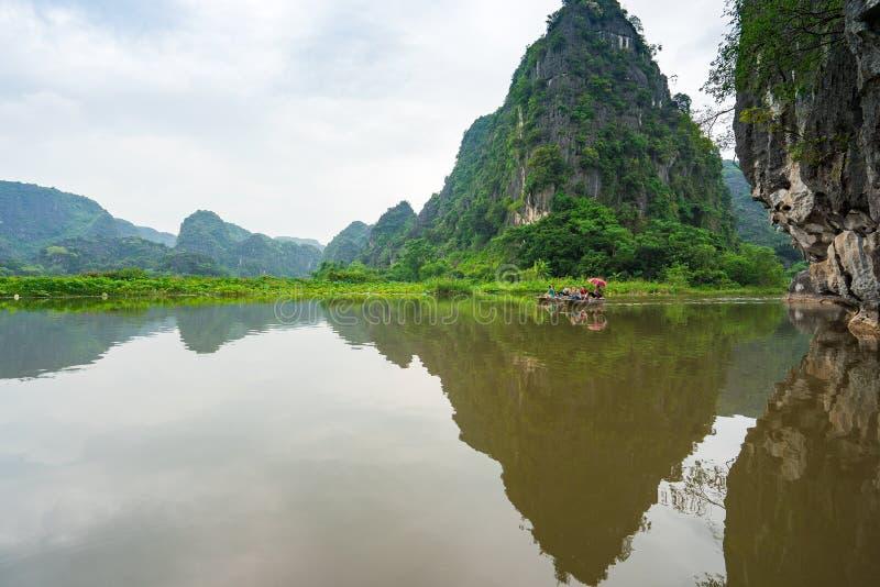 Żyjący w Trang Ninh Binh, Wietnam fotografia stock