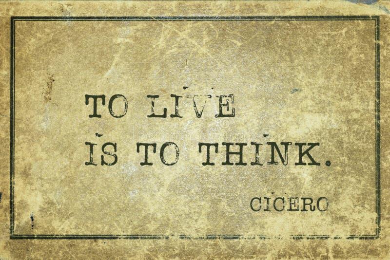 Żyje myśleć Cicero royalty ilustracja