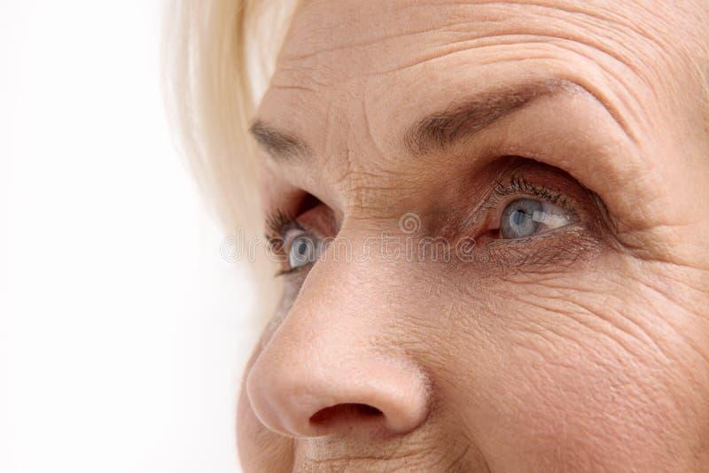 Żyje spojrzenie stara kobieta fotografia stock