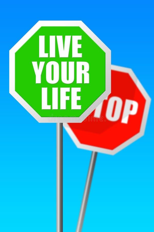 Download Żyje twój życie ilustracji. Ilustracja złożonej z postawa - 28972610