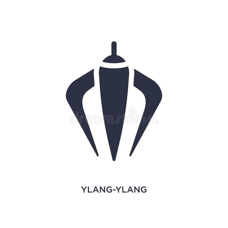 ylang-ylang εικονίδιο στο άσπρο υπόβαθρο Απλή απεικόνιση στοιχείων από την έννοια φύσης διανυσματική απεικόνιση