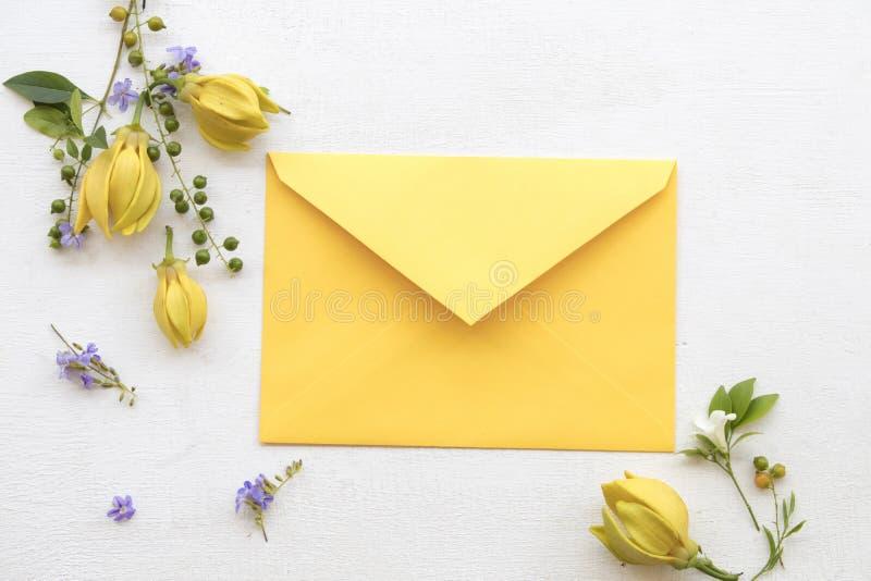 Ylang-ylang gelbes Blumeneinheimisches von Asien stockfoto