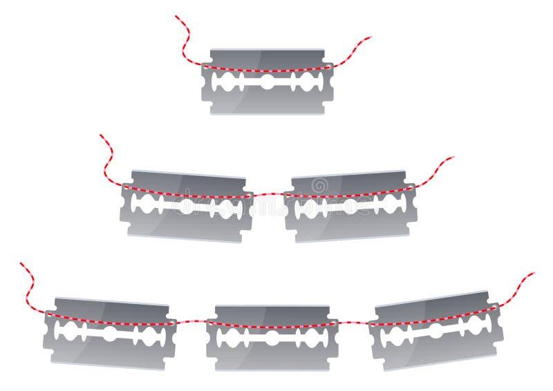 Żyletek ostrza ilustracja wektor