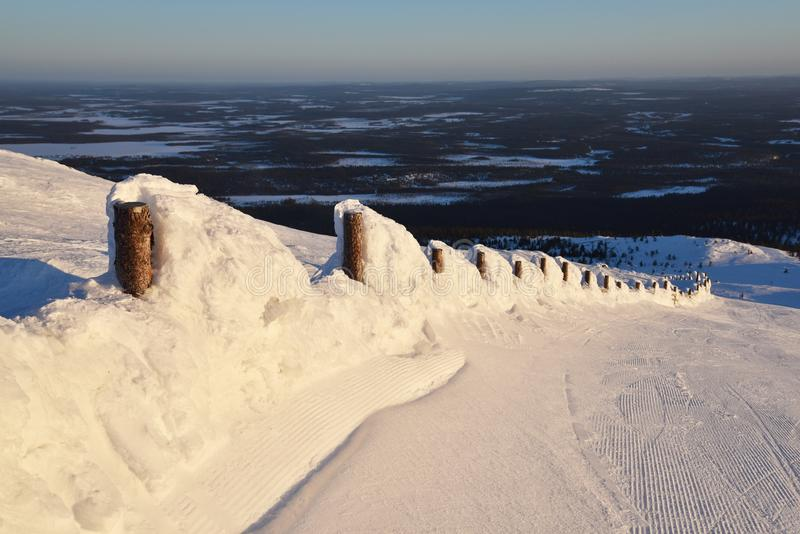 Ylläs, Laponie photo stock