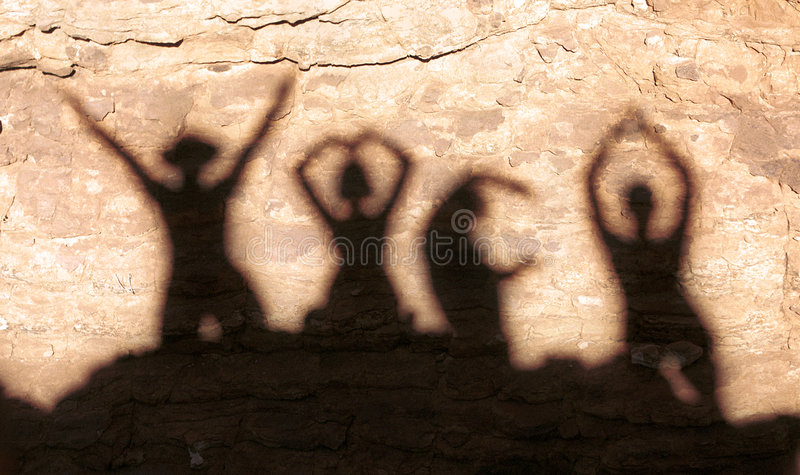 YMCA shadow stock images