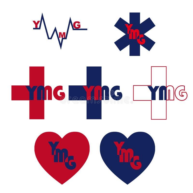 Ymg在商标上写字 皇族释放例证