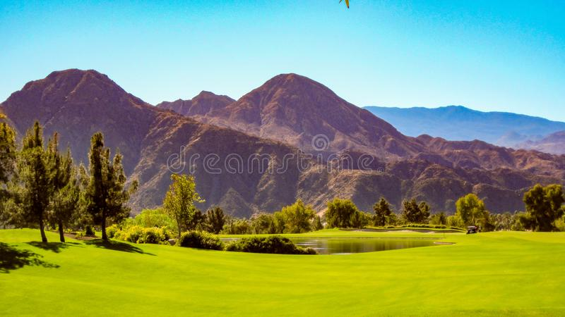 Dynamic View From Indian Wells Golf Course stock photos