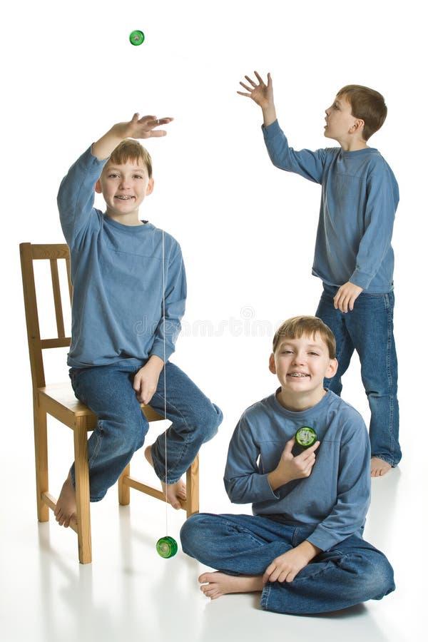 yo de triplets yoing photo libre de droits