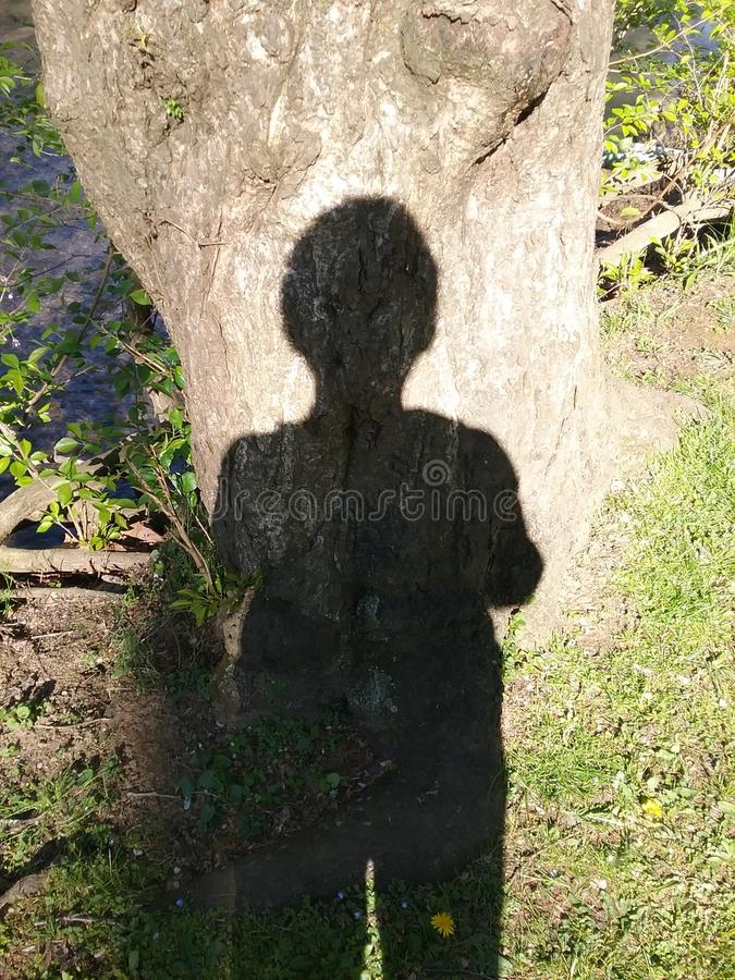 Yo y mi sombra imagen de archivo