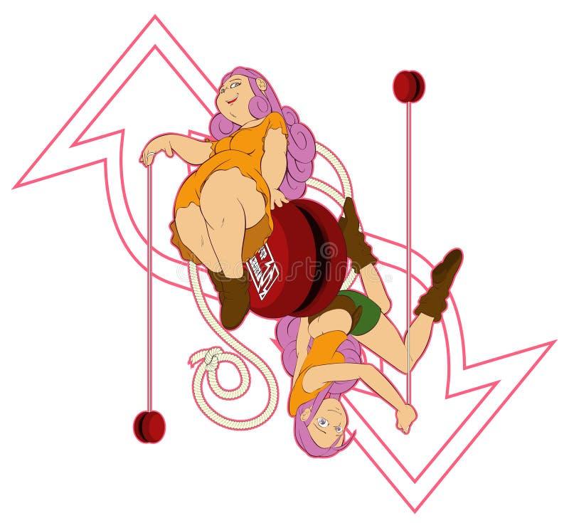 Download YO-YO Dieting stock illustration. Illustration of build - 28846247