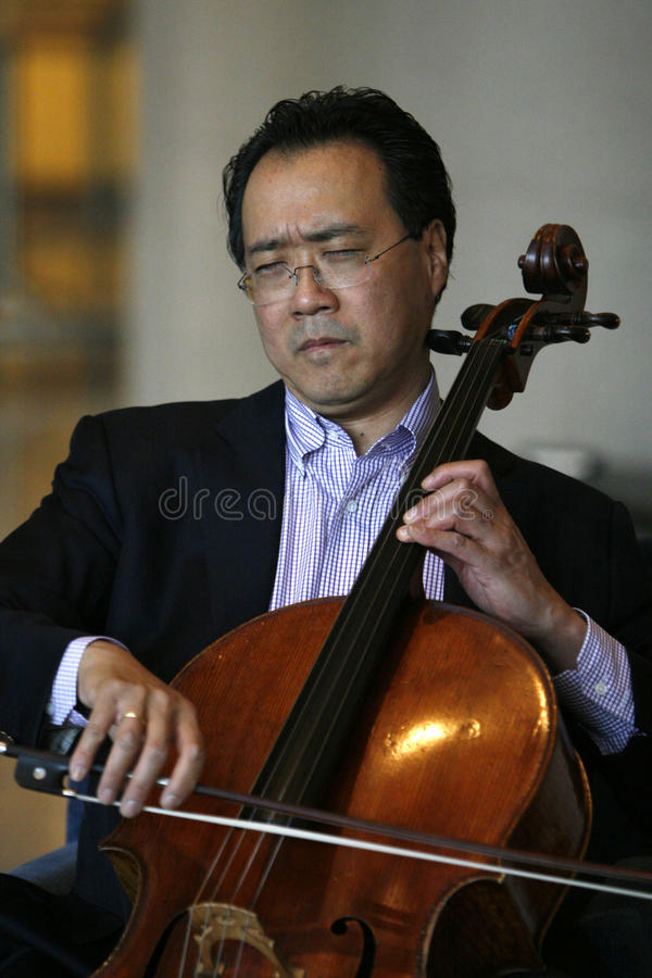 Download Yo-Yo Ma editorial photography. Image of cellist, famous - 18361902