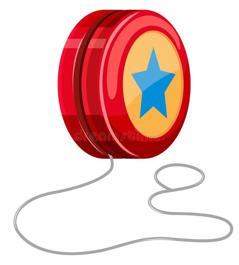 Yo-yo rouge avec de la ficelle blanche illustration de vecteur