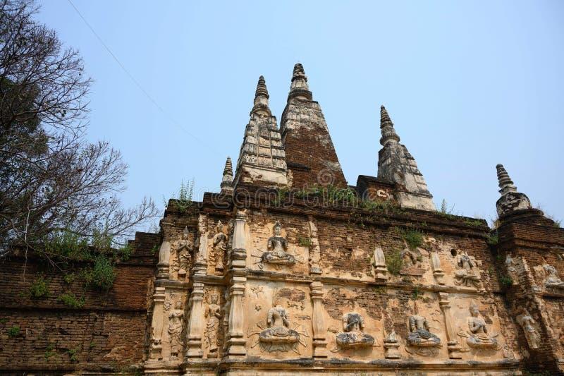 Yod ChiangMai de Wat Jed photo stock