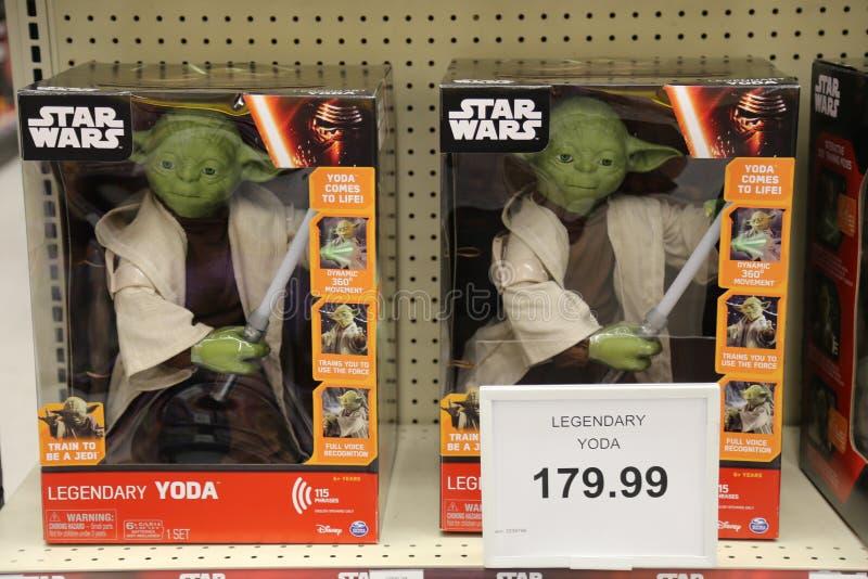 Yoda leksaker royaltyfria foton
