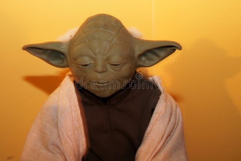 Yoda-Puppe vom Star Wars-Filmausländergeschöpf lizenzfreies stockfoto