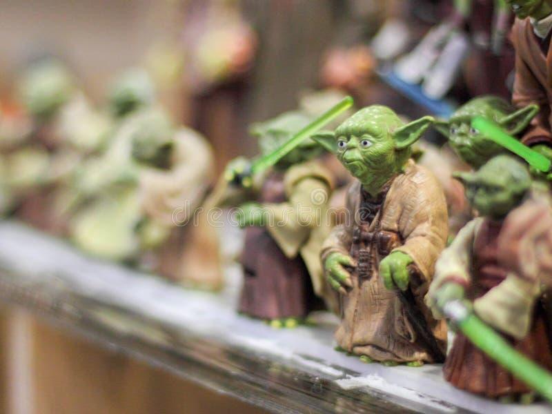 Yoda statyetter royaltyfri foto