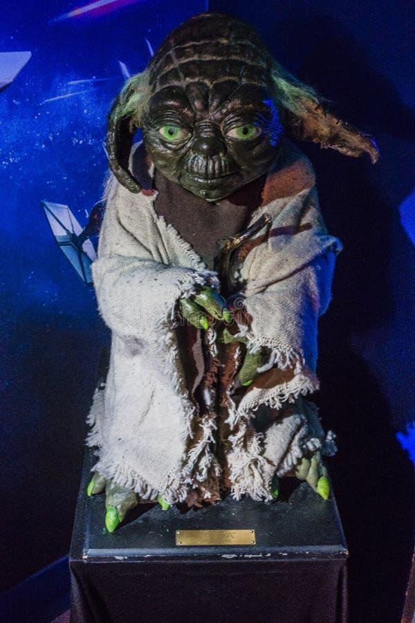 Yoda vaxdiagram arkivbilder