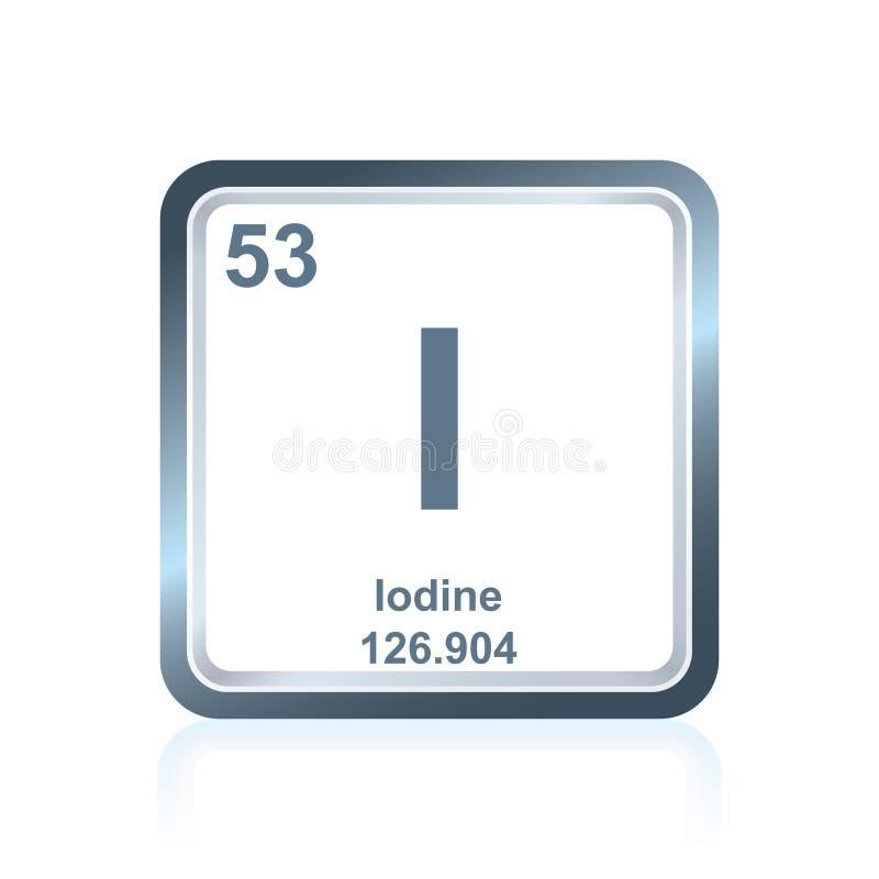 Yodo del elemento qumico de la tabla peridica stock de ilustracin download yodo del elemento qumico de la tabla peridica stock de ilustracin ilustracin de metlico urtaz Image collections