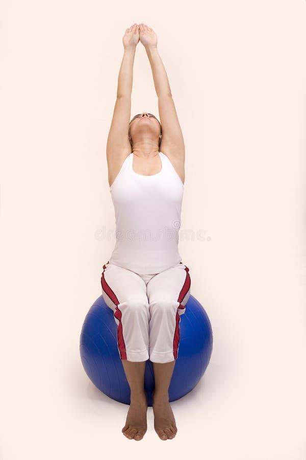 Yogaübungen stockfoto