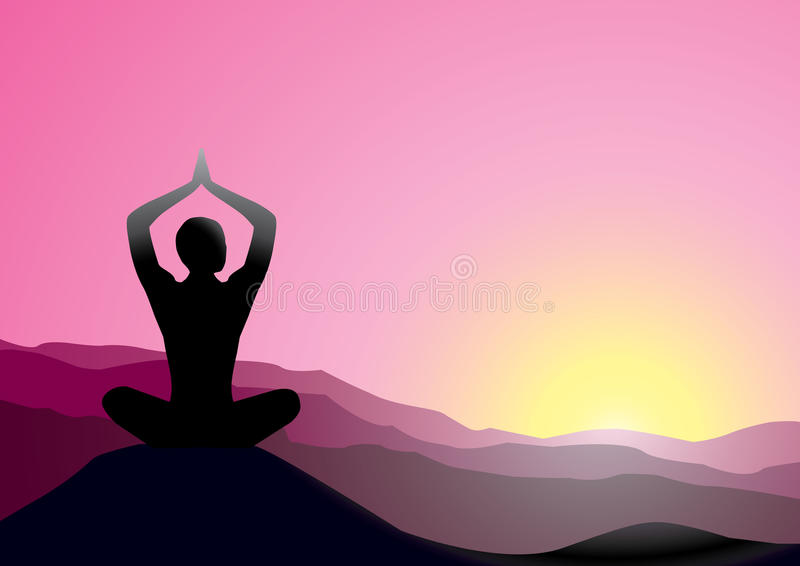 Download Yoga stock vector. Illustration of beauty, dusk, body - 10623375