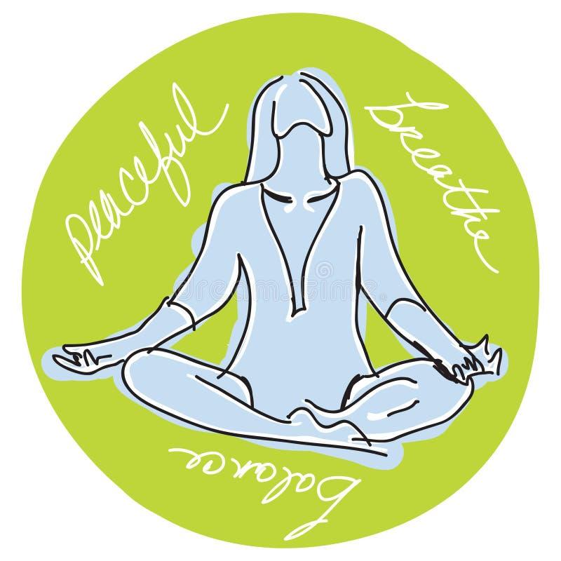 Download Yoga stock illustration. Illustration of balance, clipart - 16258103