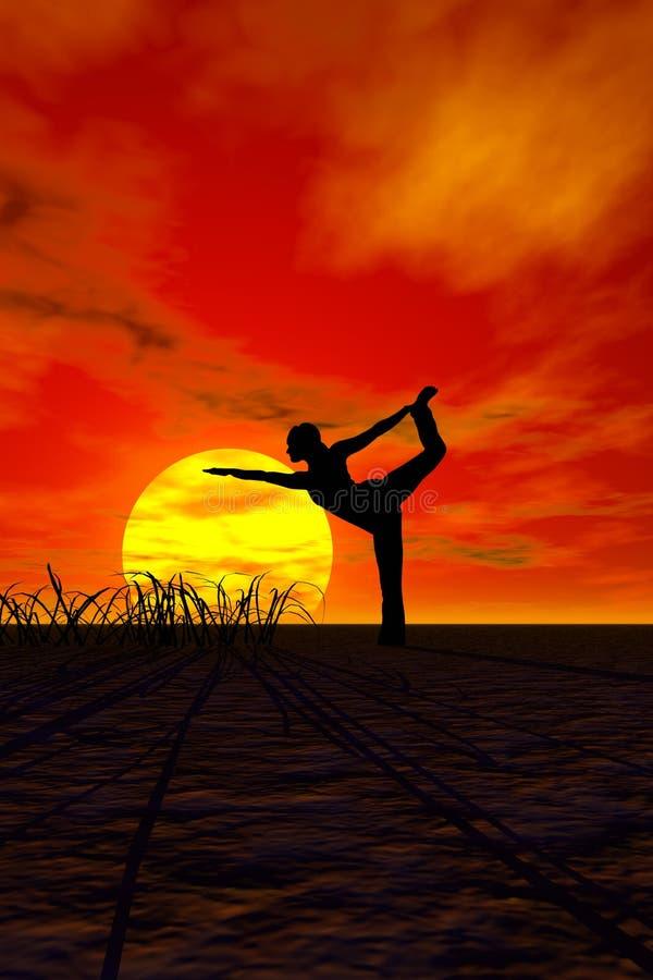 Download Yoga stock illustration. Illustration of toned, stretch - 1976557