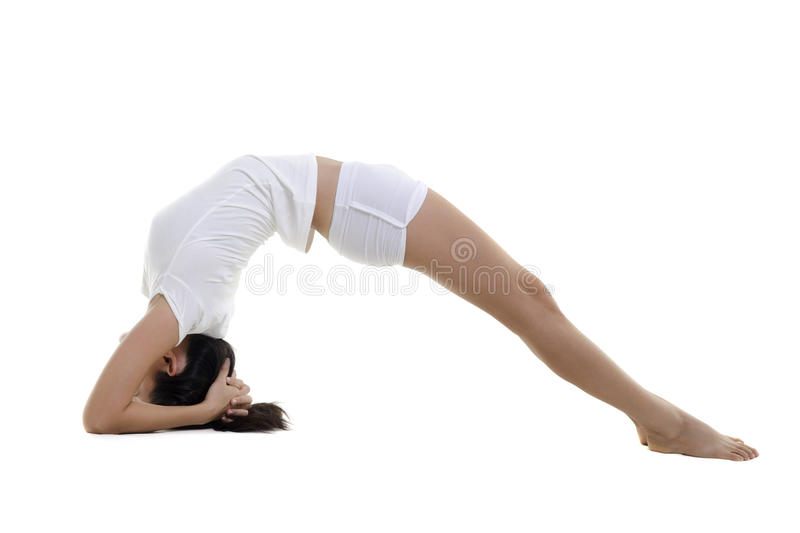 Download Yoga stock photo. Image of flexible, length, bending - 21418596