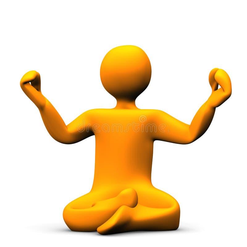Yoga stock de ilustración